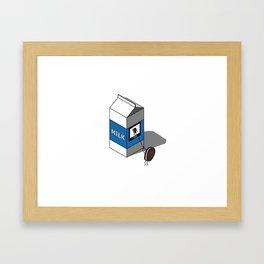 Missing Oreo Milk Box Framed Art Print