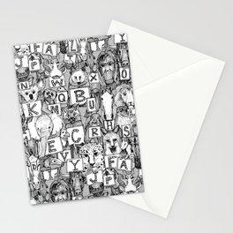 animal ABC black white Stationery Cards