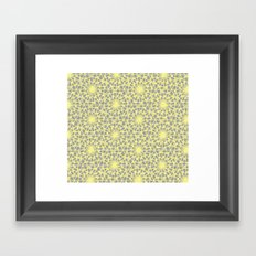 geometric vintage neon/grey Framed Art Print