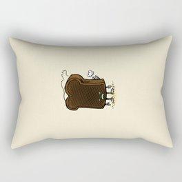Burnt Toast Bot Rectangular Pillow