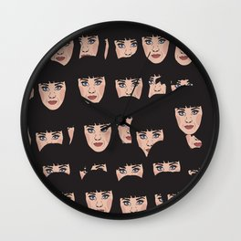 KatyPerry Faces Wall Clock