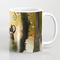 wonderland Mugs featuring Wonderland  by nicky2342