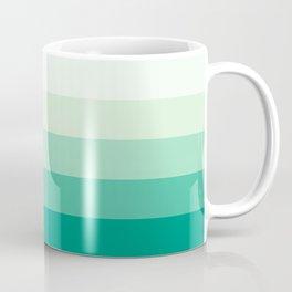 Pastel Green Stripes Coffee Mug