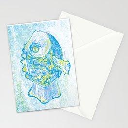 Fish paitning Stationery Cards