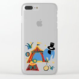 Circus Fun white Clear iPhone Case