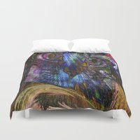 cage Duvet Covers featuring Bird Cage by Joseph Mosley