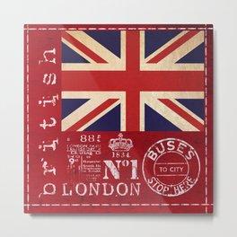 Union Jack Great Britain Flag Metal Print