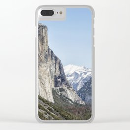 El Capitan, Half Dome and Sentinel Rock from Tunnel View Clear iPhone Case