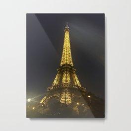 Eiffel Tower at Night Metal Print