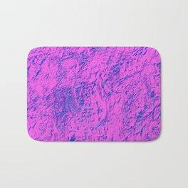 Textured Pink And Blue Bath Mat