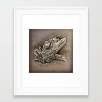 crystals Framed Art Prints featuring Crystals by Werk of Art