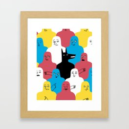 A Wolf Framed Art Print
