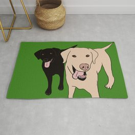 Tanner and Lily Best Labrador Buddies Rug