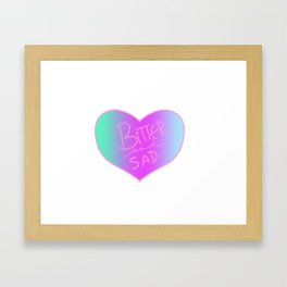 bitter and sad Framed Art Print
