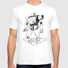 National Advisory Committee for Mecha-Electronics MEDIUM White Mens Fitted Tee