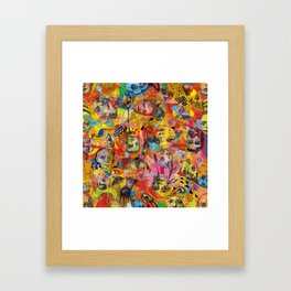 Face Pattern Framed Art Print
