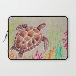 Tan Sea Turtle Laptop Sleeve