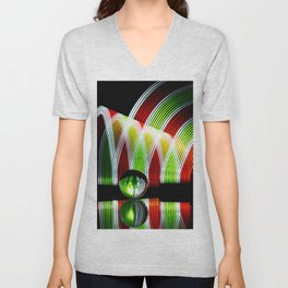 Crystal and Colors abstract painting wall decor Unisex V-Neck