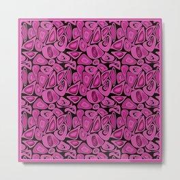 Retro Black raspberry abstraction Metal Print