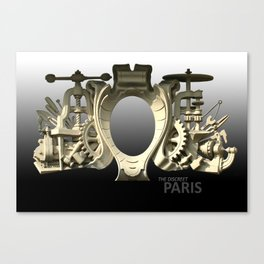THE DISCREET PARIS The mechanical mystery of the Boulevard Richard-Lenoir Canvas Print