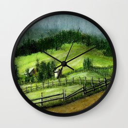 On the hills Wall Clock
