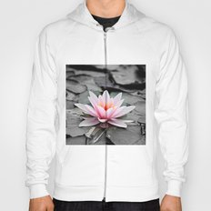 Pink Lotus Flower Waterlily Hoody