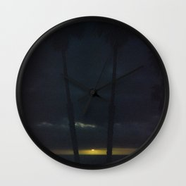 Gold on the Horizon Wall Clock