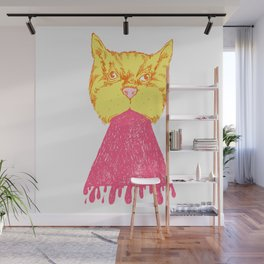 Pink Cat Vomit Wall Mural
