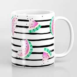 summer watermelon with black stripes. Coffee Mug