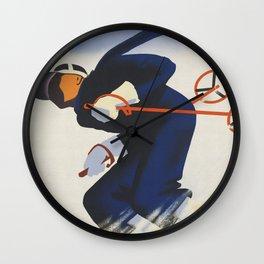 Austria Ski Wall Clock