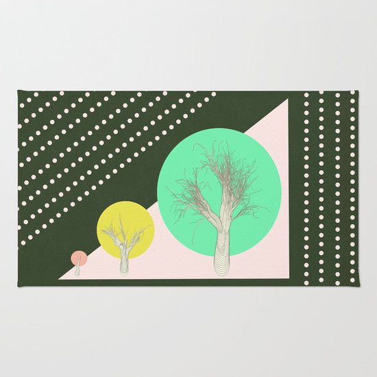 In my world forests are geometric Rug