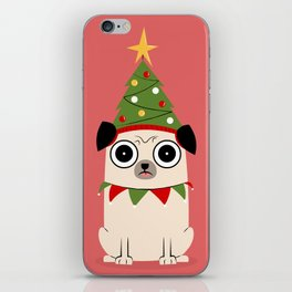 It's Christmas for Pug's Sake iPhone Skin