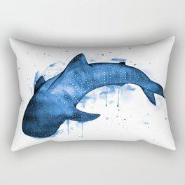 Whale Shark, blue Rectangular Pillow