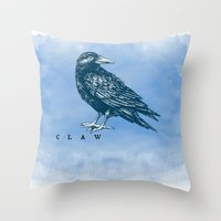 ravenclaw Throw Pillows featuring WordPlay 2: Ravenclaw by Sreetama Ray