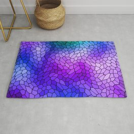 Volumetric texture of pieces of violet glass with a light mysterious mosaic. Rug