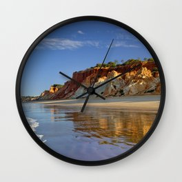 Falesia cliffs in the early morning Wall Clock