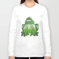 frog Long Sleeve T-shirts featuring Frog by Frances Roughton