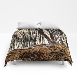 tree bark and wood Comforters