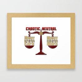D&D - Chaotic Neutral Framed Art Print