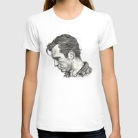 kerouac T-shirts featuring Exploding Like Spiders Across The Stars by Adam McDade