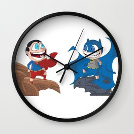 Watching the city together Wall Clock