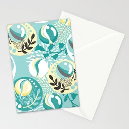 Light Teal Marble Balls Stationery Cards