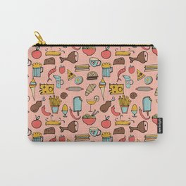 Food Frenzy pink Carry-All Pouch