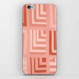Painted Color Block Squares in Peach iPhone Skin