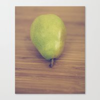 pear Canvas Prints featuring Pear by Jessica Torres Photography