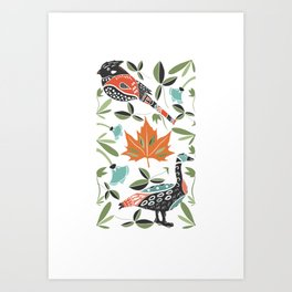 Canadian Maple Folk Art Art Print