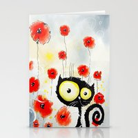 poppies Stationery Cards featuring Poppies  by Katja Main