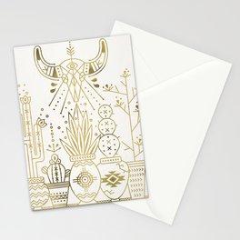 Santa Fe Garden – Gold Ink Stationery Cards