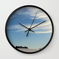 wisconsin Wall Clocks featuring Wisconsin Sky by tracy-Me