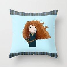 Merida Kokeshi Doll Throw Pillow